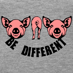 be different anders sein schwein Tops - Frauen Premium Tank Top