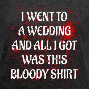 Bloody Wedding white T-shirts - Dame T-shirt med rulleærmer