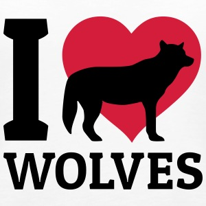 I love wolves Top - Canotta premium da donna