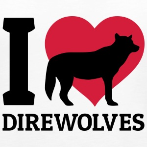 I love direwolves Tops - Vrouwen Premium tank top