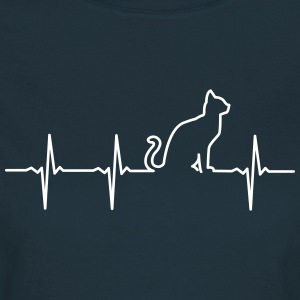 Cat - Heartbeat T-Shirts - Frauen T-Shirt