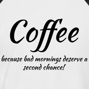 Coffee, because.... T-shirts - Kortærmet herre-baseballshirt