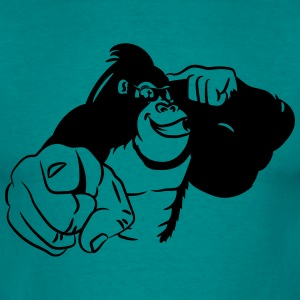 Gorilla sunglasses show bird T-Shirts - Men's T-Shirt