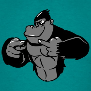 Gorilla stinkefinger cool sunglasses T-Shirts - Men's T-Shirt