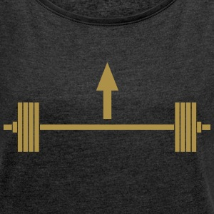Lift heavy things T-shirts - Dame T-shirt med rulleærmer