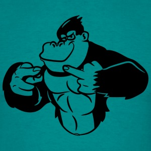 Gorilla stinkefinger cool T-Shirts - Men's T-Shirt