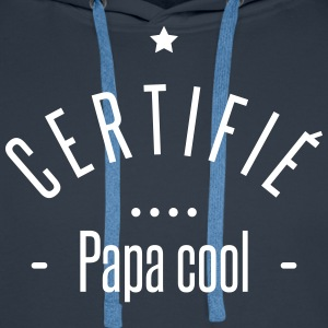 certifié papa cool Sweat-shirts - Sweat-shirt à capuche Premium pour hommes