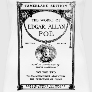 poe book cover T-shirts - Dame premium T-shirt