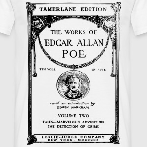 poe book cover T-shirts - Herre-T-shirt