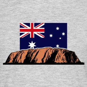 Ayers Rock - Australia Flag Tee shirts - T-shirt Homme