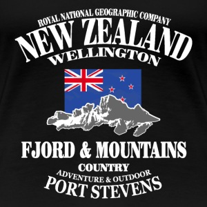 New Zealand - Mountains & Flag Koszulki - Koszulka damska Premium