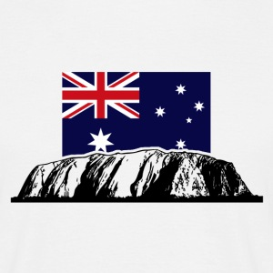 Ayers Rock - Australia Flag T-Shirts - Men's T-Shirt