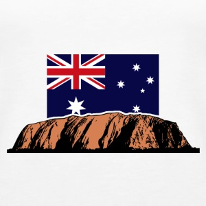 Ayers Rock - Australia Flag Topper - Premium singlet for kvinner
