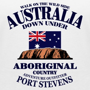 Ayers Rock - Australia Flag T-Shirts - Women's V-Neck T-Shirt