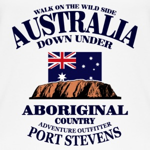 Ayers Rock - Australia Flag Topper - Øko-singlet for kvinner