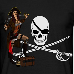 Pirate punk pin up Tee shirts - T-shirt Homme