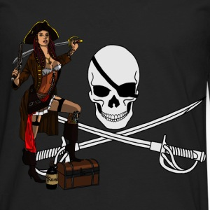 Pirate Pin up - T-shirt manches longues Premium Homme