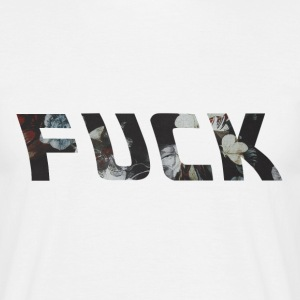 FUCK - Flower Pattern T-Shirt - Men's T-Shirt