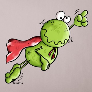 Superhero Frog Other - Sofa pillow cover 44 x 44 cm