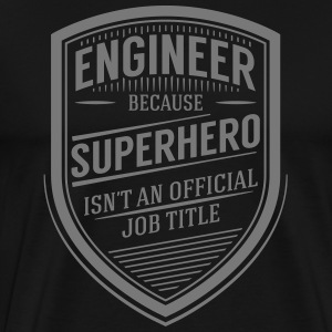 Engineer - Superhero (Vintage Logo) T-Shirts - Men's Premium T-Shirt