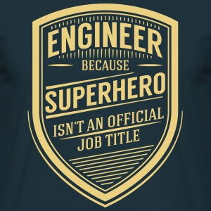 Engineer - Superhero (Vintage Logo) T-shirts - Herre-T-shirt