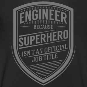 Engineer - Superhero (Vintage Logo) T-Shirts - Men's V-Neck T-Shirt