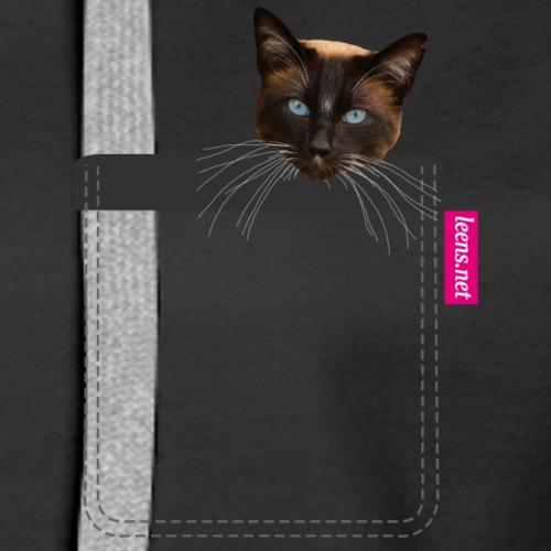 Kätzchen in Brusttasche