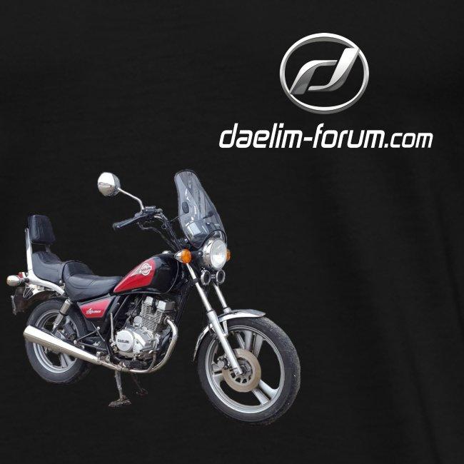 Daelim VC 125 F Advance vorne rechts (+ Daelim Logo + Forum URL)