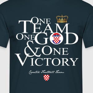 One Team One God Crotia - T-shirt Homme