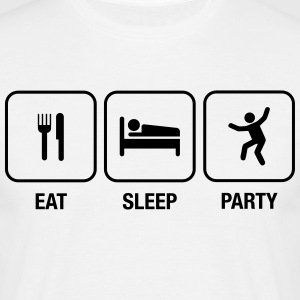 Eat, Sleep, Party T-Shirts - Männer T-Shirt