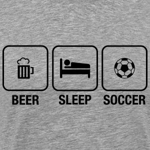 Daily Routine: Beer, Sleep, Soccer Tee shirts - T-shirt Premium Homme