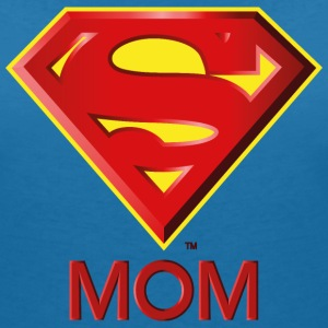 Superman 'Super MOM' Women T-Shirt - Dame-T-shirt med V-udskæring