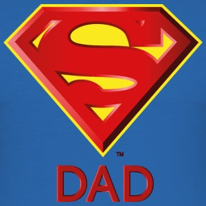 Superman 'Super DAD' Männer T-Shirt - Männer Slim Fit T-Shirt