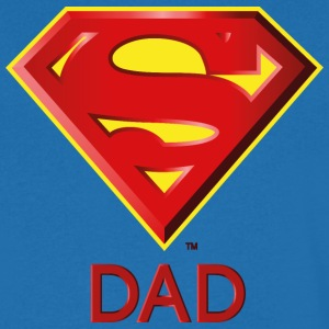 Superman 'Super DAD' Men T-Shirt - T-skjorte med V-utsnitt for menn
