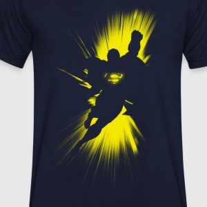 Superman 'Shadow' Men T-Shirt - Mannen T-shirt met V-hals