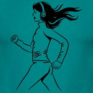 walking jogging female sport T-Shirts - Men's T-Shirt