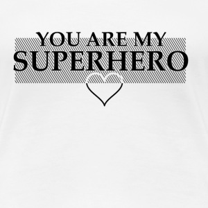 Superhero Black  T-Shirts - Frauen Premium T-Shirt
