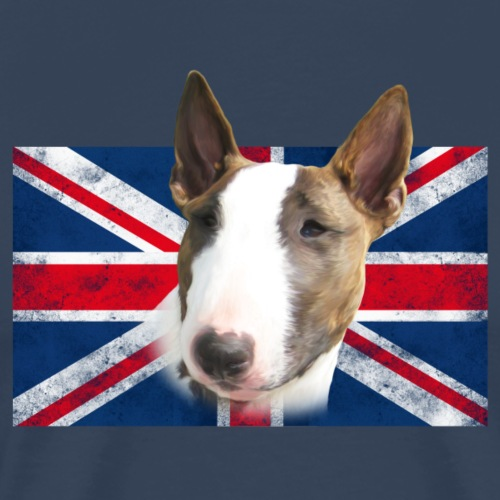 Bullterrier UK grunge Flag