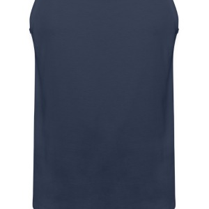 Navy Evolution of Golf (1c)  Aprons - Men's Premium Tank Top
