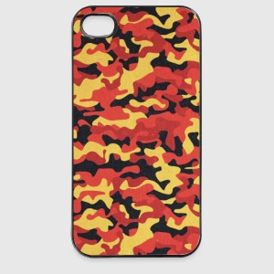 Camouflage Pattern in Red Black Yellow  Handy & Tablet Hüllen - iPhone 4/4s Hard Case