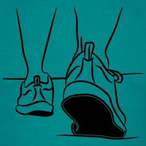 walking shoes sport go T-Shirts - Men's T-Shirt