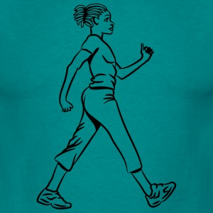 walking go, girl, woman T-Shirts - Men's T-Shirt