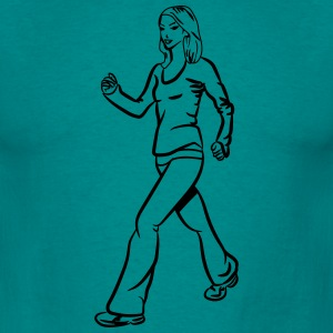 walking walking woman sport T-Shirts - Men's T-Shirt