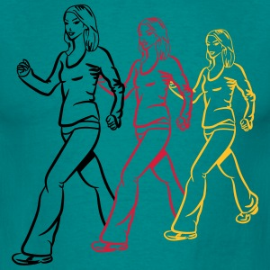 walking go female sport T-Shirts - Men's T-Shirt