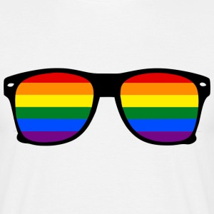 glasses rainbow Tee shirts - T-shirt Homme