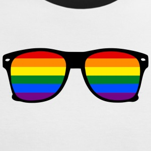glasses rainbow T-shirts - Vrouwen contrastshirt
