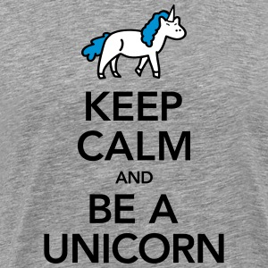 Keep Calm And Be A Unicorn T-shirts - Premium-T-shirt herr