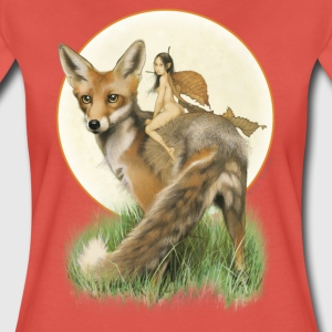Pastel rood fox and fairy T-shirts - Vrouwen Premium T-shirt