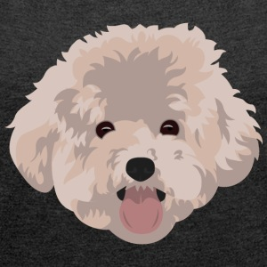 Poodle T-Shirts - Women's T-shirt with rolled up sleeves