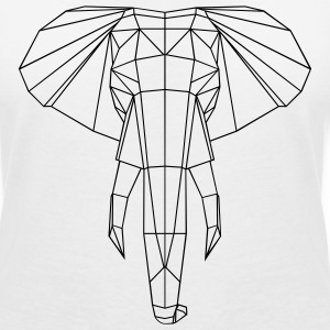 Elephant graphic T-Shirts - Women's V-Neck T-Shirt
